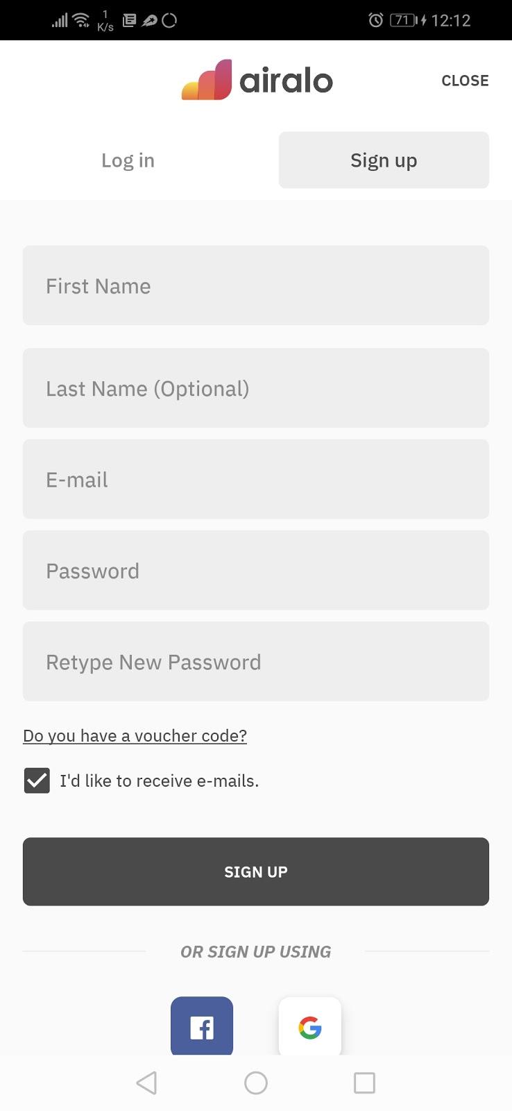 registro app airalo